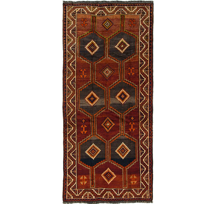 4' 6 x 10' 2 Shiraz Persian Runner Rug