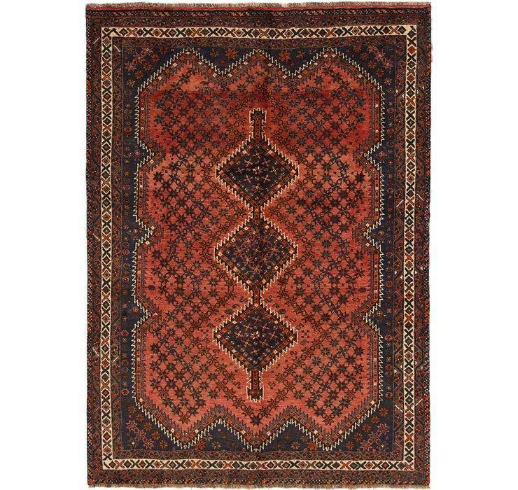6' 4 x 8' 9 Shiraz Persian Rug