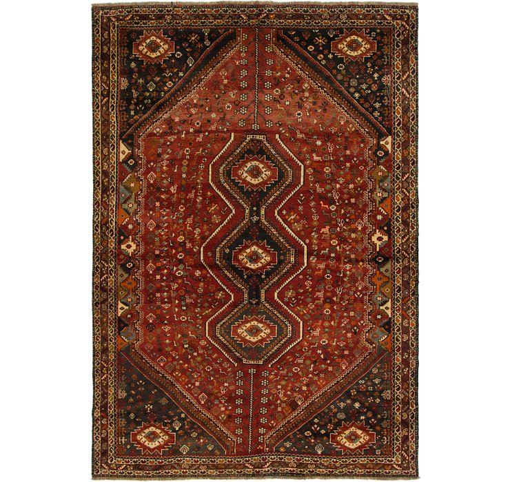 7' 4 x 10' 5 Shiraz Persian Rug