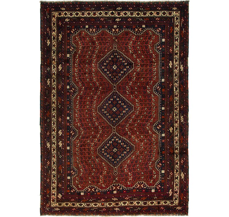 6' 7 x 9' 5 Shiraz Persian Rug