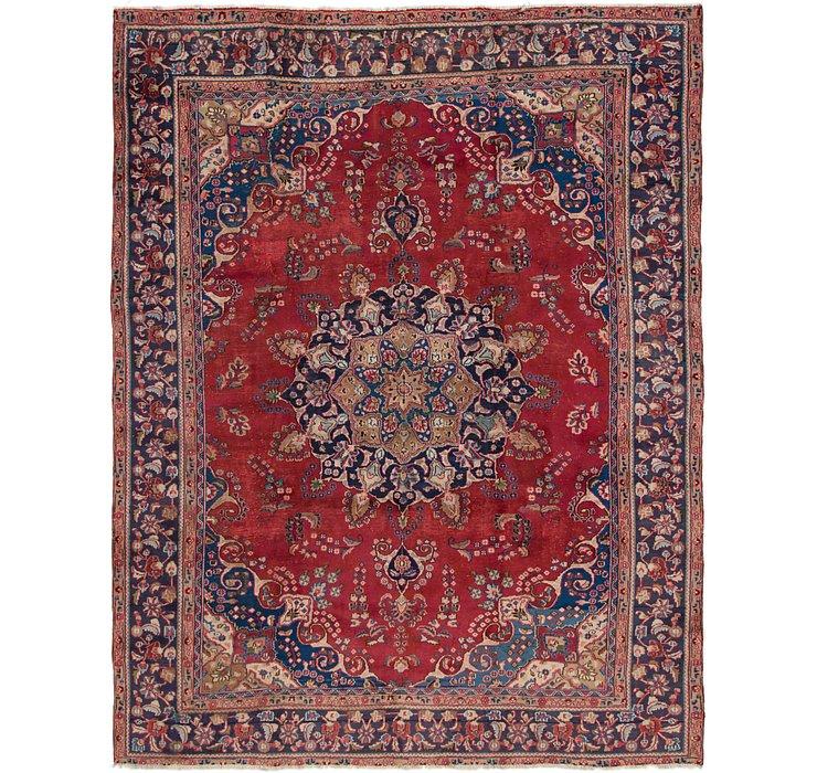 HandKnotted 9' 3 x 12' Mashad Persian Rug