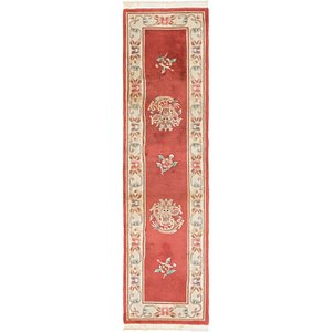2' 4 x 8' 9 Antique Finish Runner Rug