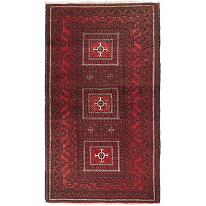 HandKnotted 3' 7 x 6' 4 Balouch Persian Rug