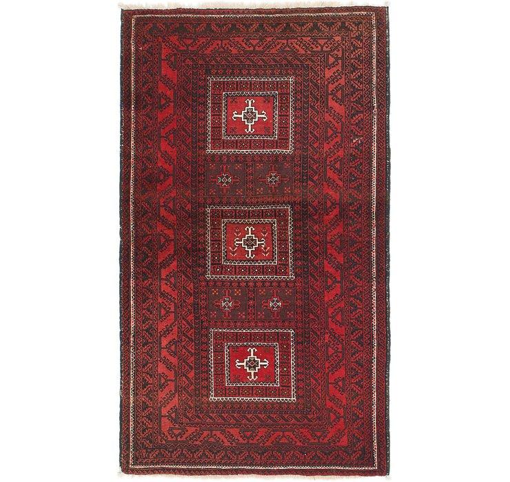 3' 7 x 6' 4 Balouch Persian Rug
