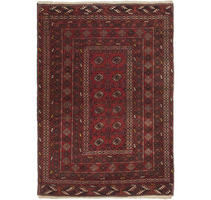 4' 3 x 7' Balouch Persian Rug