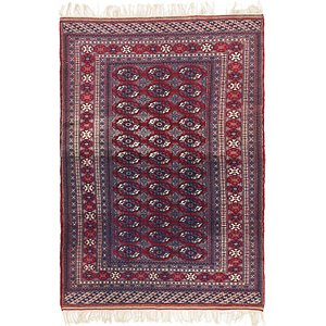 HandKnotted 4' 2 x 7' 4 Bokhara Oriental Rug