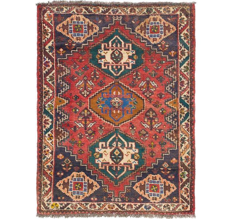 4' x 5' 5 Shiraz Persian Rug
