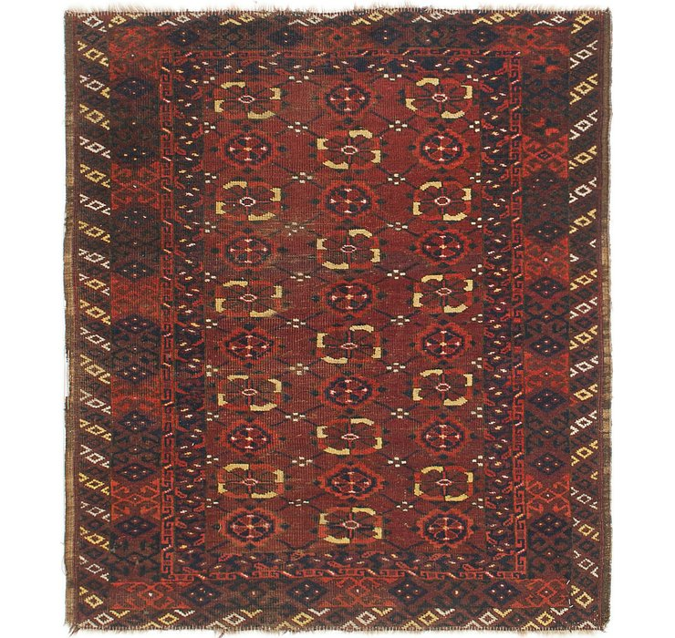 HandKnotted 2' 6 x 4' Balouch Persian Rug
