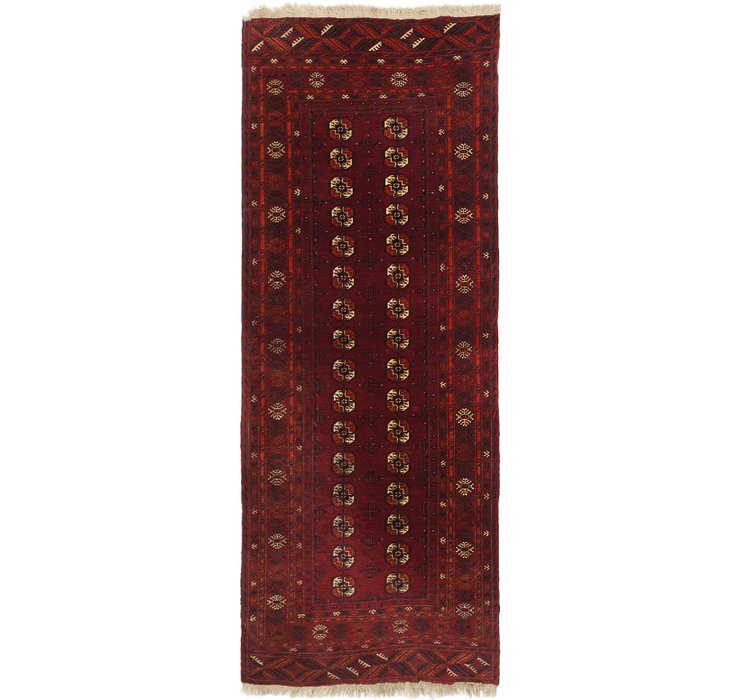 3' 5 x 8' 10 Afghan Akhche Runner Rug