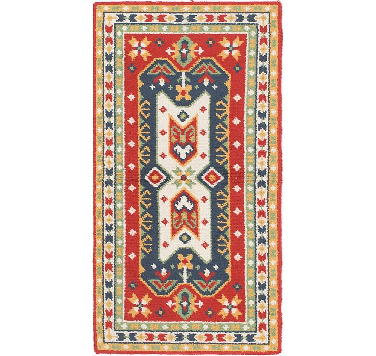 HandKnotted 3' x 6' Moroccan Rug