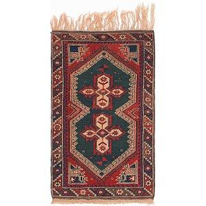 2' 5 x 4' 2 Balouch Persian Rug