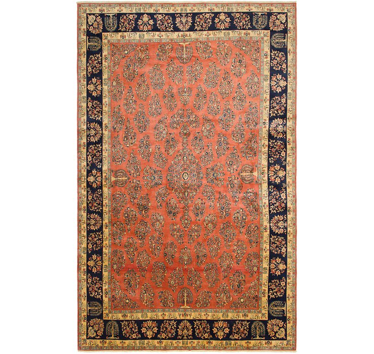 390cm x 627cm Sarough Persian Rug