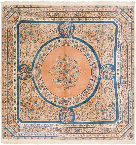 Peach 10 X 10 4 Kerman Persian Square Rug Persian Rugs