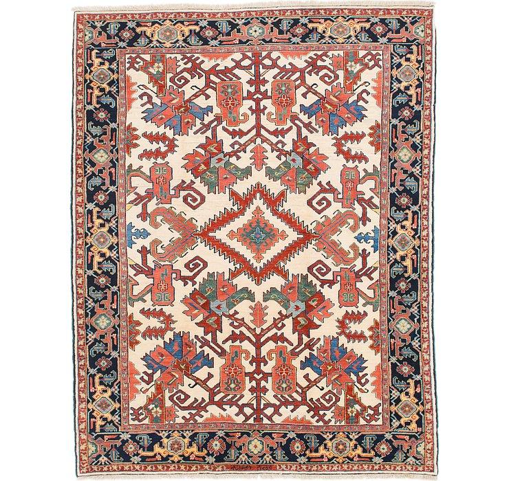 8' 2 x 10' 6 Heriz Persian Rug
