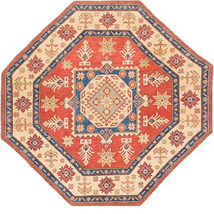 Unique Loom 6' 3 x 6' 6 Kazak Octagon Rug