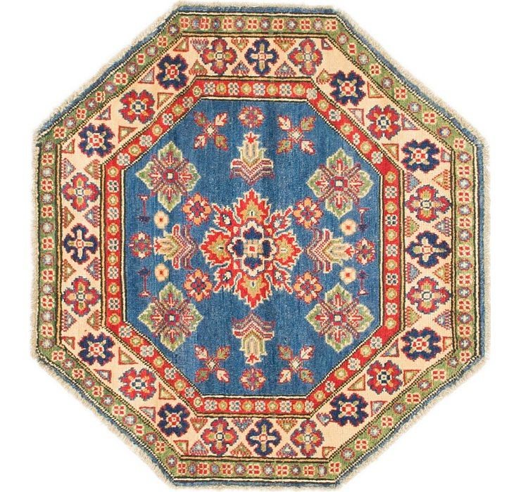 3' x 3' 2 Kazak Octagon Rug