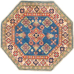 Unique Loom 3' x 3' Kazak Octagon Rug