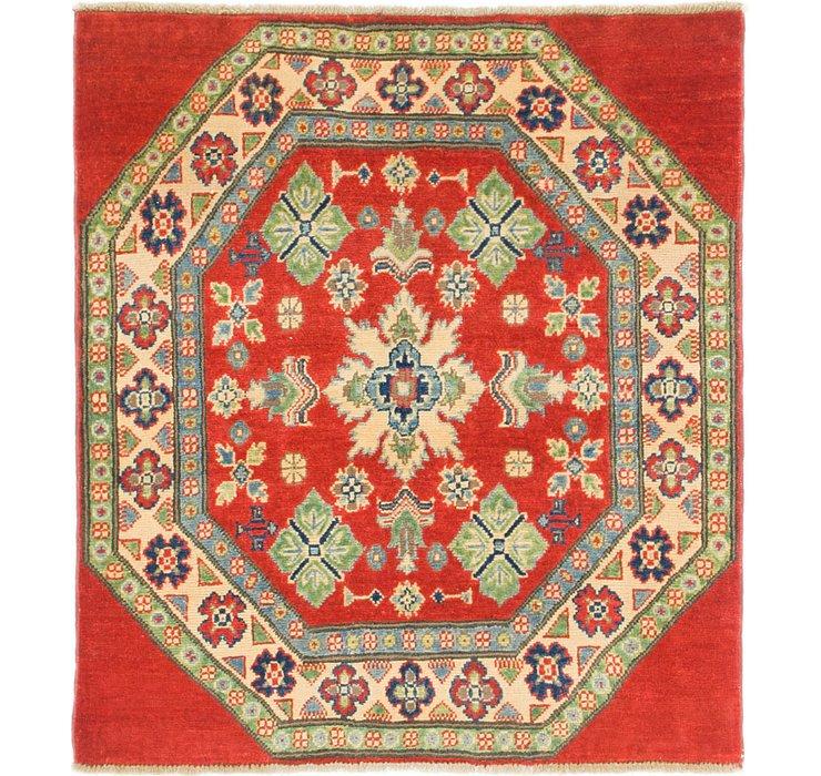 3' 2 x 3' 8 Kazak Square Rug
