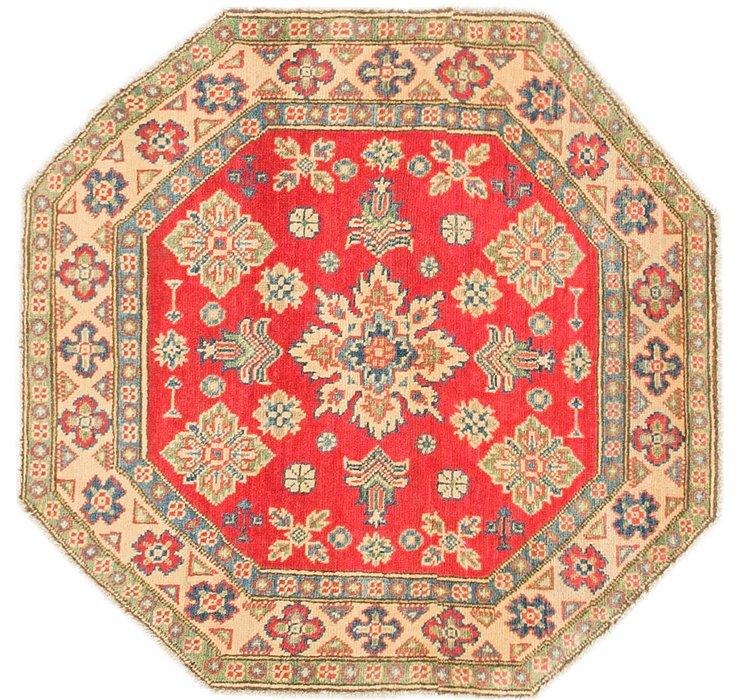 3' 2 x 3' 2 Kazak Octagon Rug