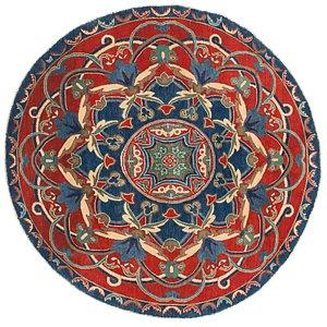 Unique Loom 6' 6 x 6' 8 Kazak Round Rug
