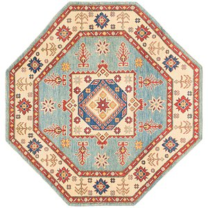 Unique Loom 6' x 6' 2 Kazak Octagon Rug