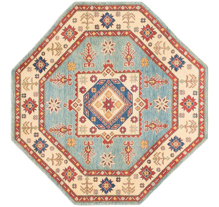 6' x 6' 2 Kazak Octagon Rug