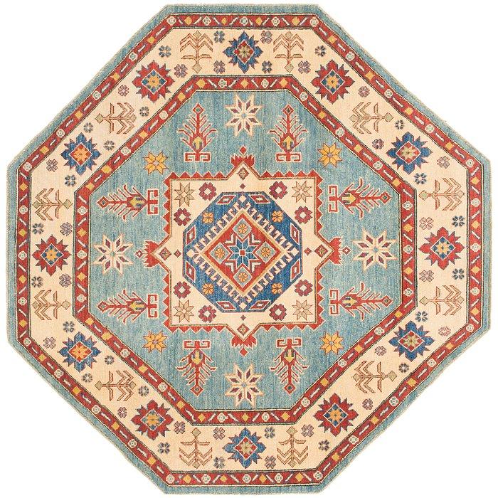 6' 4 x 6' 6 Kazak Octagon Rug