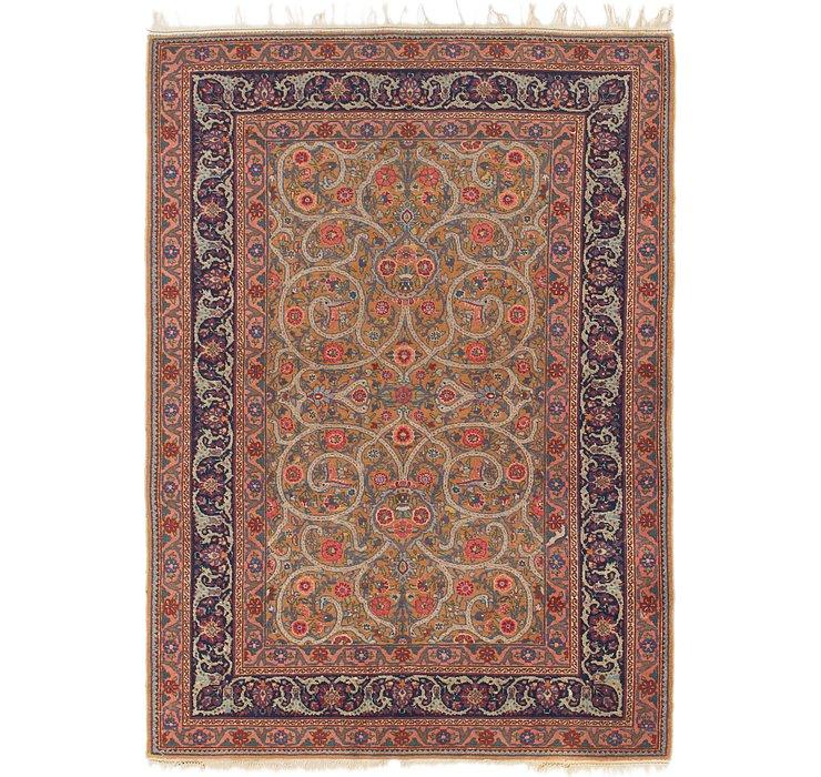 4' 9 x 6' 7 Mashad Persian Rug