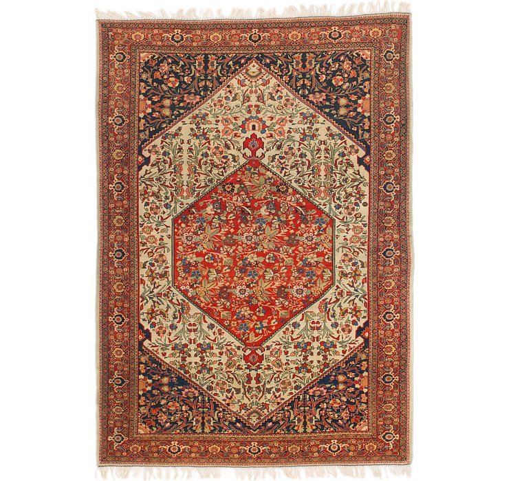 HandKnotted 4' 5 x 6' 4 Ghoochan Persian Rug