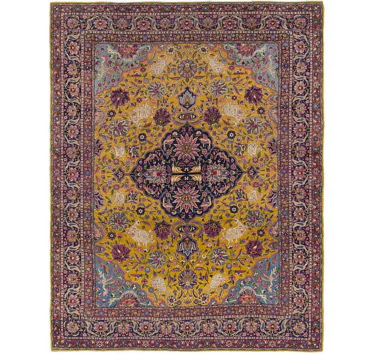 8' 9 x 11' 2 Kashan Persian Rug