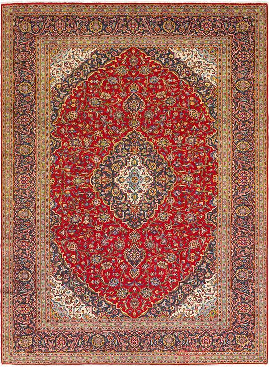 Red 9 6 X 13 2 Kashan Persian Rug Persian Rugs Irugs Uk