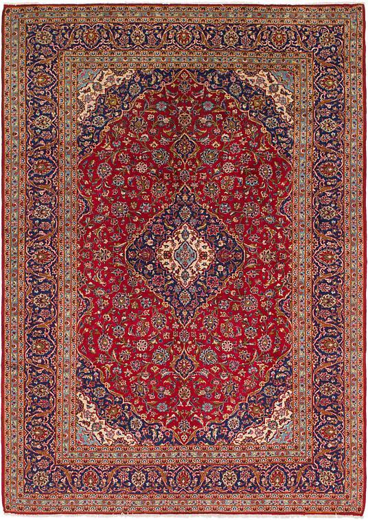 Red 9 7 X 13 5 Kashan Persian Rug Persian Rugs Esalerugs
