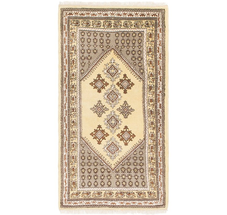 HandKnotted 2' 4 x 4' 5 Moroccan Rug