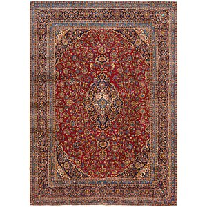 HandKnotted 9' 4 x 13' Kashan Persian Rug