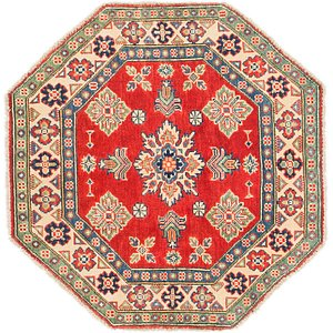 Unique Loom 3' x 3' 2 Kazak Octagon Rug