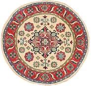 Link to 100cm x 102cm Kazak Round Rug