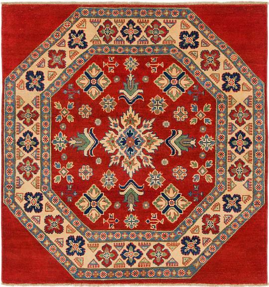 Oriental Rugs Uk: Red 4' 10 X 5' 2 Kazak Square Rug