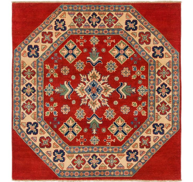 4' 10 x 5' 2 Kazak Square Rug
