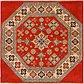 4' 10 x 4' 10 Kazak Square Rug thumbnail image 1
