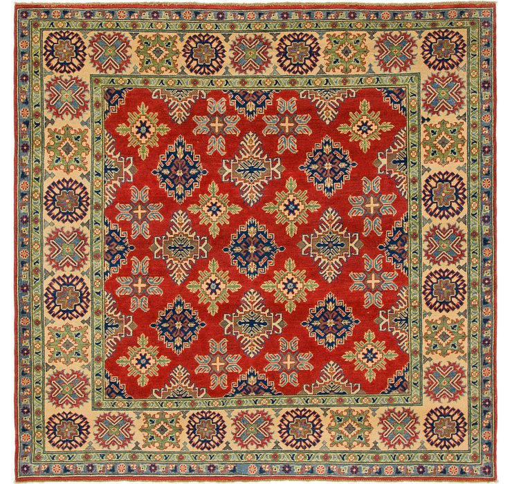 6' 7 x 6' 9 Kazak Square Rug