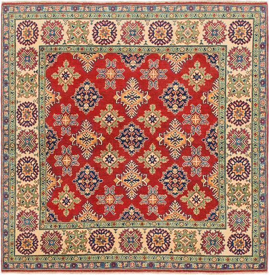 Persian Rugs Australia: Red 200cm X 200cm Kazak Square Rug