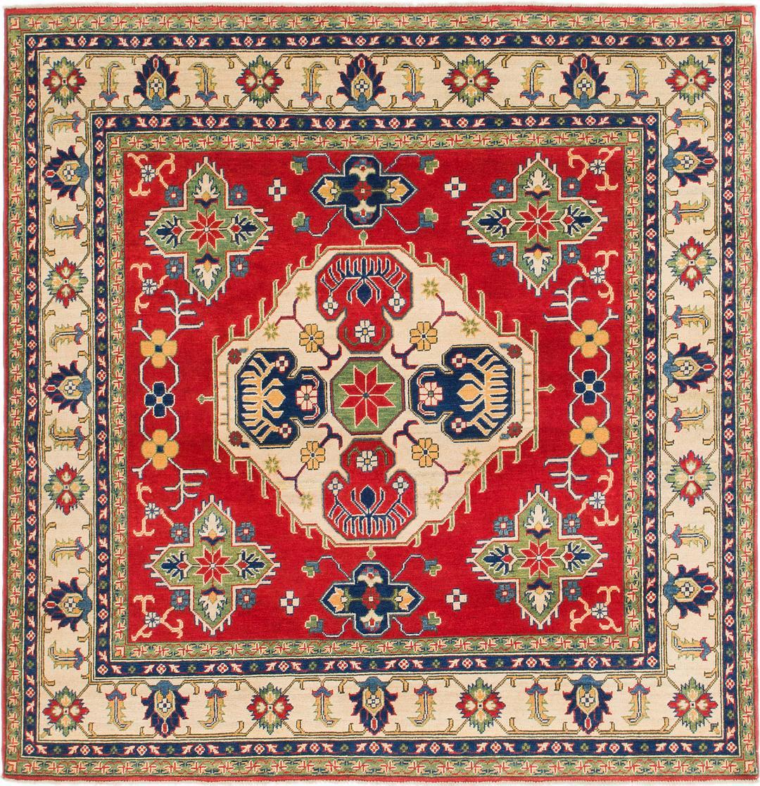 Red Unique Loom 6 6 X 6 9 Kazak Square Rug Oriental Rugs Rugs Com