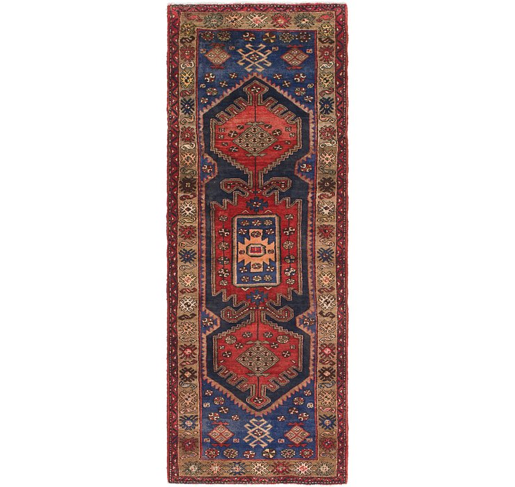 3' 5 x 9' 10 Khamseh Persian Runner ...