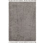 Link to Unique Loom 5' 3 x 7' 8 Luxe Solid Shag Rug