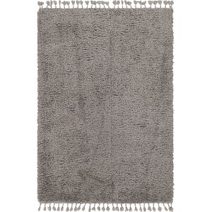 Unique Loom 5' 3 x 7' 8 Luxe Solid Shag Rug