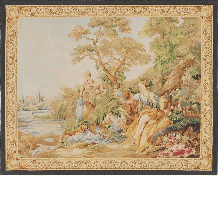 142cm x 175cm Tapestry Square Rug