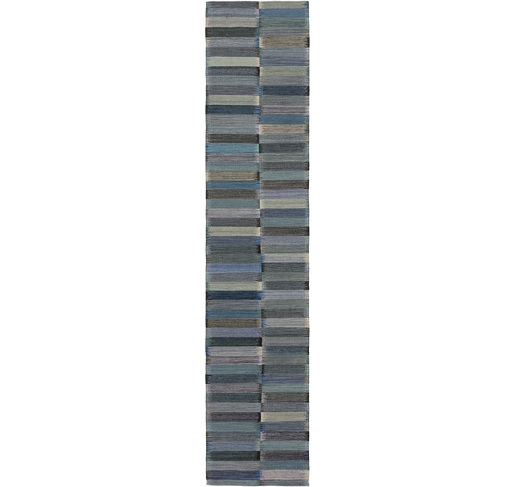 2' 8 x 13' 3 Kilim Modern Runner Rug