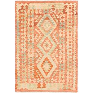 Link to 3' 7 x 5' Kilim Waziri Rug item page