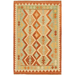 Unique Loom 3' 2 x 5' Kilim Waziri Rug