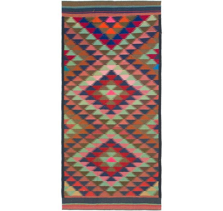 4' 7 x 10' Kilim Fars Runner Rug